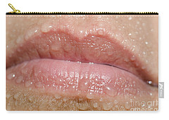Mouth With Water Drops Carry-all Pouch