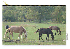 Carry-all Pouch featuring the photograph Mowing The Lawn by Bonfire Photography