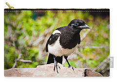 Mr. Magpie Carry-all Pouch by Cheryl Baxter