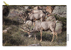 Mule Deer Bucks Carry-all Pouch by Ronald Lutz