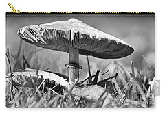 Mushroom In Black And White Carry-all Pouch