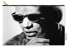 Carry-all Pouch featuring the painting Music Legend Ray Charles by Jim Fitzpatrick