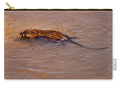 Muskrat Swiming Carry-all Pouch