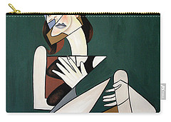 Carry-all Pouch featuring the painting My Broken Heart by Anthony Falbo