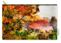 Carry-all Pouch featuring the painting My Front Yard by Lynne Jenkins