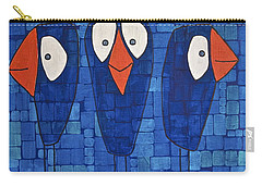 My Three Birds Carry-all Pouch