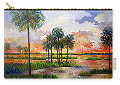 Myakka Sunset Carry-all Pouch by Lou Ann Bagnall