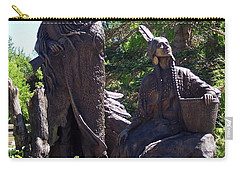 Native American Statue Carry-all Pouch by Chalet Roome-Rigdon