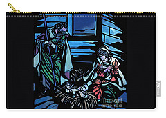 Nativity Stained Glass Carry-all Pouch by Methune Hively