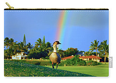 Carry-all Pouch featuring the photograph Nene At The End Of The Rainbow by Lynn Bauer