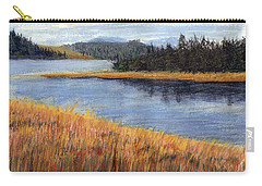 Nestucca River And Bay  Carry-all Pouch by Chriss Pagani