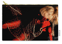 Netted A Red Carry-all Pouch by Clayton Bruster