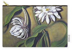 Carry-all Pouch featuring the painting Night Blooming Cereus by Randol Burns