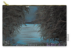 Carry-all Pouch featuring the painting Night In The Bayou by Alys Caviness-Gober