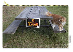 Carry-all Pouch featuring the photograph No Trespassing by Jeannette Hunt