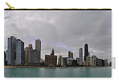 Carry-all Pouch featuring the photograph North Of Navy Pier From The Series Chicago Skyline by Verana Stark