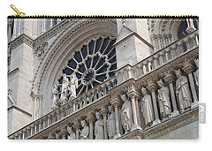 Carry-all Pouch featuring the photograph Notre Dame Details by Jennifer Ancker