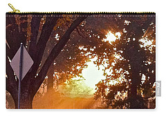 Carry-all Pouch featuring the photograph November Sunrise by Bill Owen