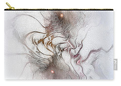 Carry-all Pouch featuring the digital art Nuanced by Casey Kotas