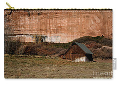 Carry-all Pouch featuring the photograph Old Barn In Angel Canyon #1  by Nola Lee Kelsey