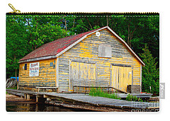 Carry-all Pouch featuring the photograph Old Cabin by Les Palenik