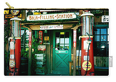 Carry-all Pouch featuring the photograph Old Fashioned Filling Station by Nina Prommer