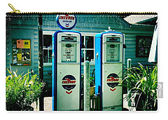 Carry-all Pouch featuring the photograph Old Fashioned Gas Station by Nina Prommer
