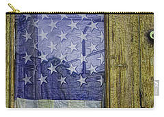 Old Glory And Door Carry-all Pouch
