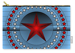 Carry-all Pouch featuring the digital art Old Glory Star by Mario Carini