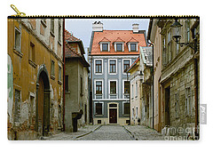 Carry-all Pouch featuring the photograph Old Street In Bratislava by Les Palenik