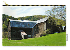 Carry-all Pouch featuring the photograph Old Vermont Barn by Sherman Perry