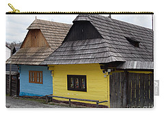 Carry-all Pouch featuring the photograph Old Wooden Homes by Les Palenik