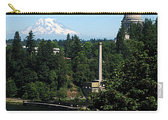 Olympia Wa Capitol And Mt Rainier Carry-all Pouch