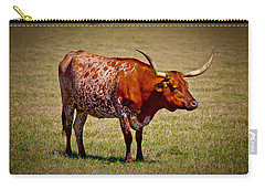 One Lone Longhorn Carry-all Pouch by Doug Long