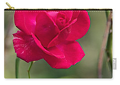 Carry-all Pouch featuring the photograph One Rose by Joseph Yarbrough