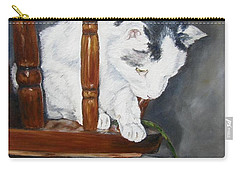 Carry-all Pouch featuring the painting Oops by Lori Brackett