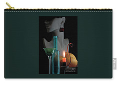 Orange Candle Carry-all Pouch