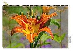 Orange Day Lily Carry-all Pouch by Tikvah's Hope