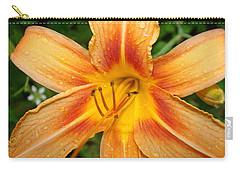 Orange Iris Carry-all Pouch