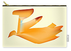 Orange Jetpack Penguin Carry-all Pouch by Kevin McLaughlin