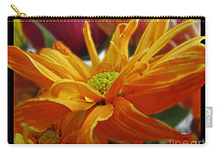 Carry-all Pouch featuring the photograph Orange Juice Daisy by Debbie Portwood