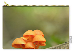 Carry-all Pouch featuring the photograph Orange Mushrooms by JD Grimes