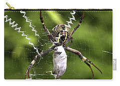 Carry-all Pouch featuring the photograph Orb Weaver by Joy Watson