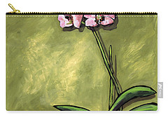 Orchid On Olive Carry-all Pouch