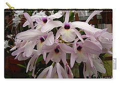 Carry-all Pouch featuring the photograph Orchids Beauty by Donna Brown