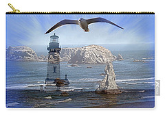 Carry-all Pouch featuring the photograph Oregon Coast Composite by Nick Kloepping