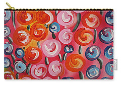 Original Modern Impasto Flowers Painting  Carry-all Pouch