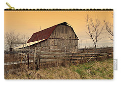 Carry-all Pouch featuring the photograph Ozark Barn 1 by Marty Koch