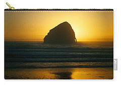 Pacific City Sunset Carry-all Pouch by Chriss Pagani