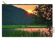 Carry-all Pouch featuring the photograph Pack River Delta Sunset 2 by Albert Seger